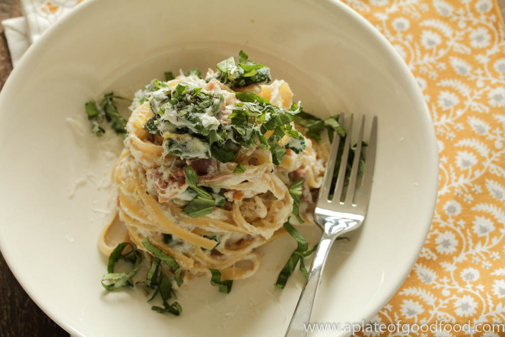 fettucine with ricotta